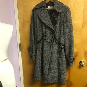 Guess black/white tweed with chain waist sz L